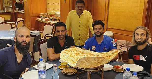 IPL 2021: 'ఫ్యామిలీ నాన్' టేస్ట్ చేసిన చెన్నై ఆటగాళ్లు