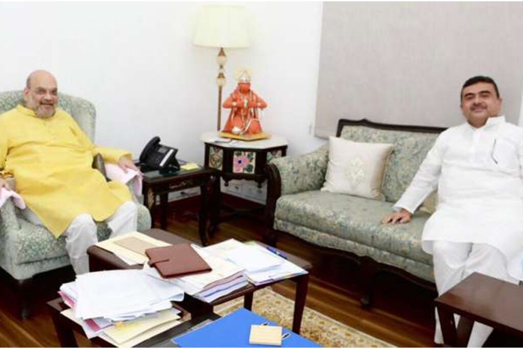 అమిత్ షాను కలిసిన సువెందు.. రేపు ప్రధానితో భేటీకి అవకాశం.!