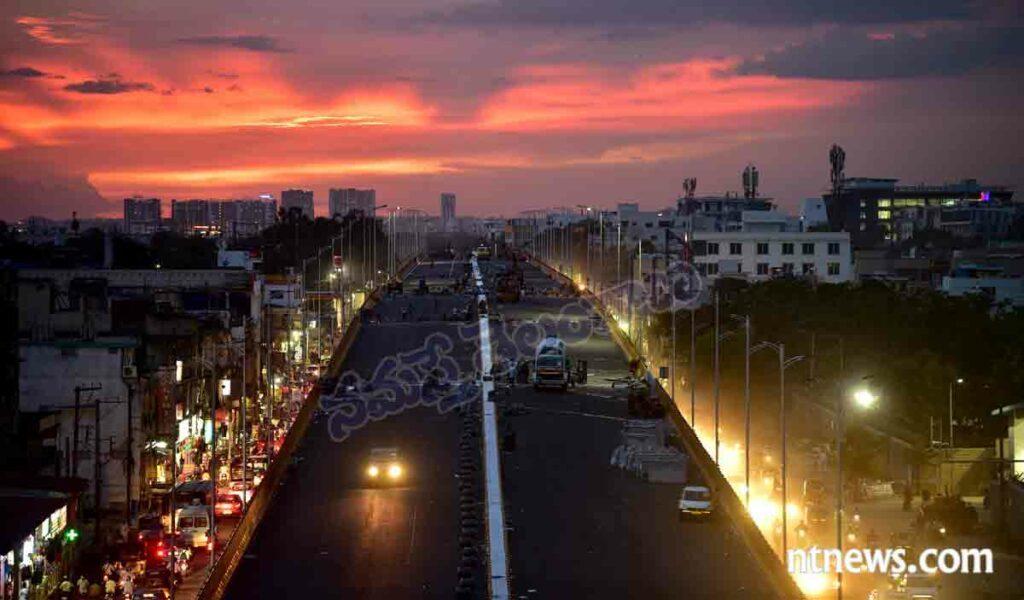 బాలానగర్ ఫ్లైఓవర్ : సాయంకాలం.. సుందర దృశ్యం