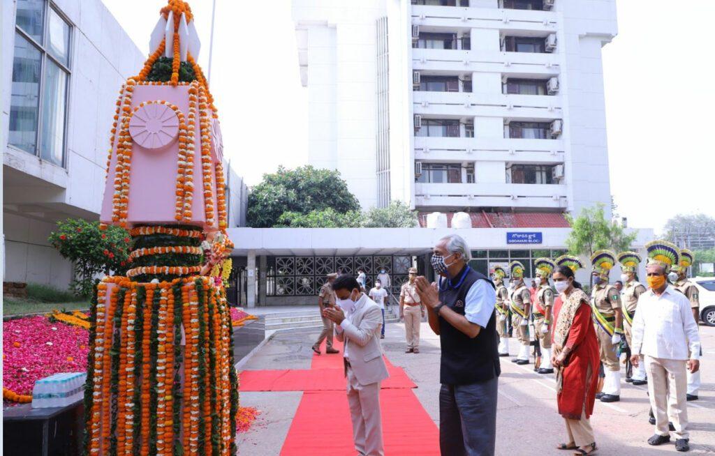 ఢిల్లీలోని తెలంగాణ భవన్లో రాష్ర్ట ఆవిర్భావ వేడుకలు