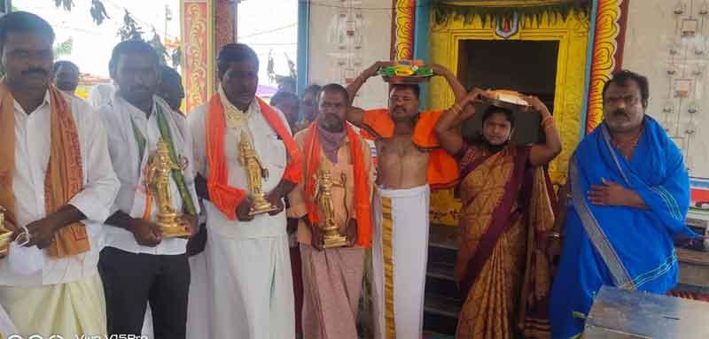 అగ్రహారంలో ఆంజనేయ స్వామి విగ్రహ ప్రతిష్ఠ